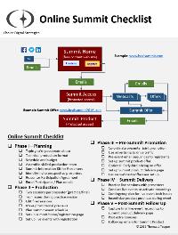 Online Summit Checklist